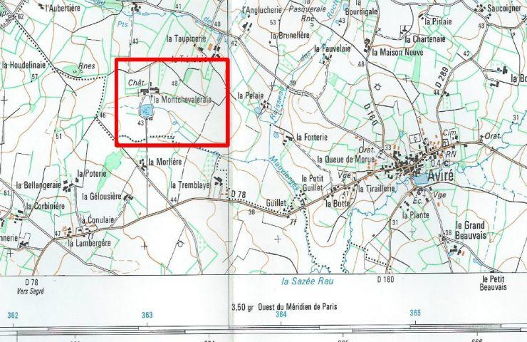 carte ign chateau de La Montchevalleraie